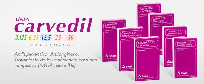 Laboratorios Bagó Carvedil 3,125/6,25/12,5/25/50