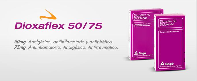 Laboratorios Bagó Dioxaflex 50/75 mg