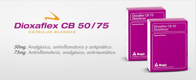 Laboratorios Bagó Dioxaflex CB 50/75 mg