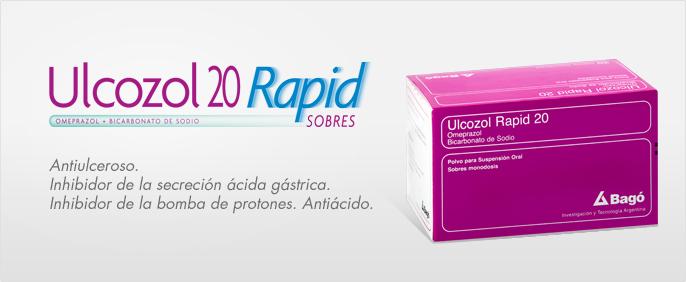 Laboratorios Bagó Ulcozol Rapid 20 sobres