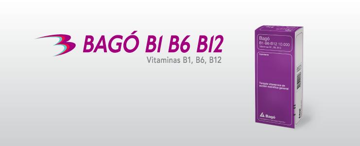 Laboratorios Bagó Bagó B1 B6 B12 10.000 inyectable